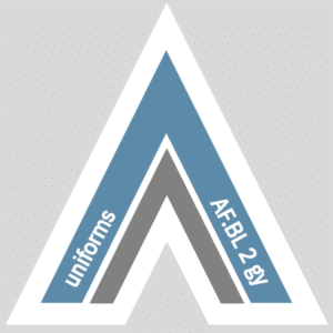 Fetish Vector Arrow for uniforms   airforce.BLUE 2 gray