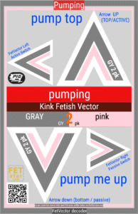 FetVector Poster for Fetish Vector pumping / GRAY 2 pink